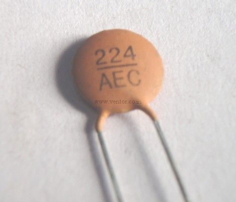 0 22uf 220nf 50v Ceramic Disk Capacitor 224 Aec Rs 1