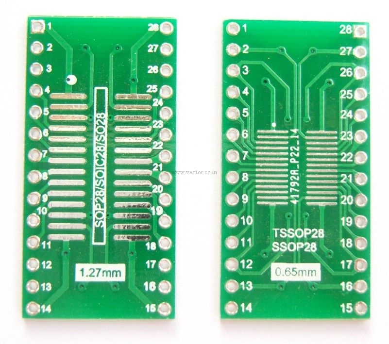TSSOP28-SOP28 to DIP28 Adapter PCB - Click Image to Close