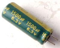 1500uf 6.3V Electrolytic Capacitor