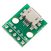 Micro USB to 5pin DIP Adapter PCB