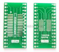 TSSOP28-SOP28 to DIP28 Adapter PCB